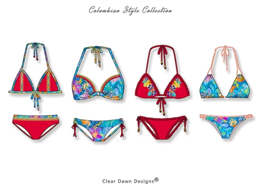 4 Colombian Style cleardawndesigns